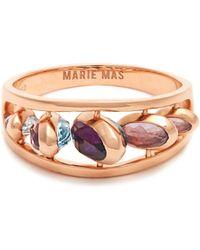 Marie Mas | Amethyst, Topaz & Pink-gold Ring | Lyst