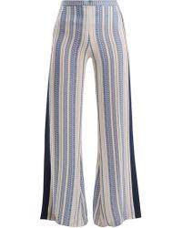 Zeus+Dione - Alcyone Geometric Jacquard Silk Blend Trousers - Lyst