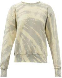 Les Tien Tie-dye Brushed-back Cotton Sweatshirt - Blue