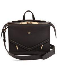 Fendi - Monster Mini Leather Messenger Bag - Lyst