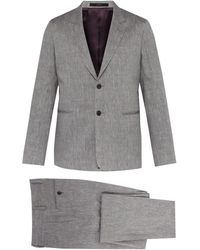 Paul Smith Soho Tailored-fit Wool And Linen-blend Suit - Gray
