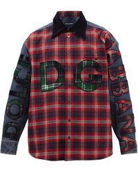Dolce & Gabbana ロゴ コットンブレンドフランネルシャツ - マルチカラー