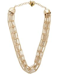 Rosantica Muse Chainmail Necklace - Metallic