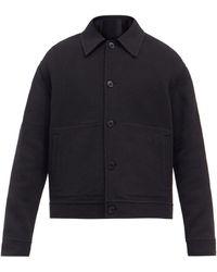Raey Button-up Camel-hair Jacket - Black