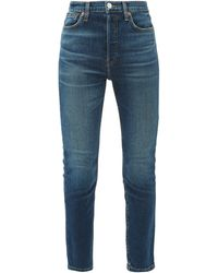 RE/DONE - High Rise Ankle Crop Jeans - Lyst