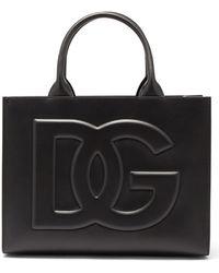 Dolce & Gabbana ベアトリス ミディアム レザートートバッグ - ブラック
