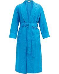 Emma Willis Linen Robe - Blue