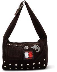 Chopova Lowena Studded Corduroy Shoulder Bag - Multicolour