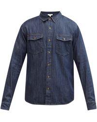 FRAME パッチポケット デニムシャツ - ブルー