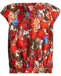 Marni - Floral Print Top - Lyst