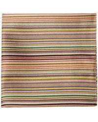 Paul Smith Signature-stripe Silk-satin Pocket Square - Multicolor