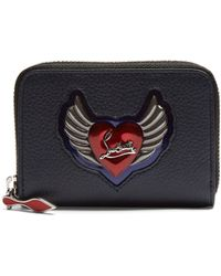 97de1c06b8ecf1 Christian Louboutin - Panettone Heart Embellished Leather Coin Purse - Lyst