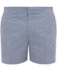 Frescobol Carioca Copacabana Printed Swim Shorts - Blue