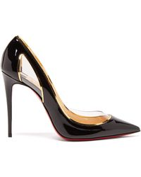 Christian Louboutin Cosmo 554 100 Patent-leather Court Shoes - Black