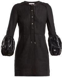 JW Anderson - Puff-sleeve Linen Mini Dress - Lyst