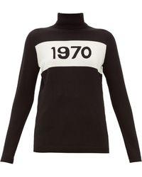 Bella Freud 1970 ウール タートルネックセーター - ブラック