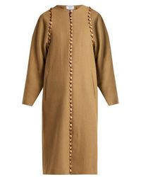 Thom Browne - Button-embellished Wool Coat - Lyst