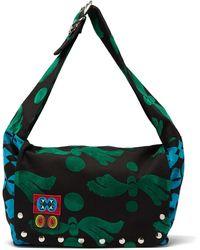 Chopova Lowena Flocked Twill Shoulder Bag - Green