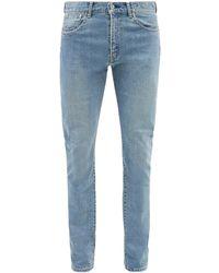Kuro Diamante Mid-rise Slim-leg Jeans - Blue