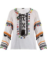 Dodo Bar Or - Yehoray Pompom-embellished Cotton Top - Lyst