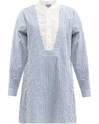 Thierry Colson Victoria Striped Cotton-poplin Shirt Dress - Blue