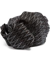 Missoni Zigzag Metallic Crochet-knit Turban Hat - Black