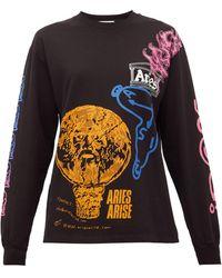 Aries フレンチ モンスター コットン ロングスリーブtシャツ - マルチカラー