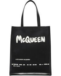 Alexander McQueen - ロゴ キャンバス&レザートートバッグ - Lyst