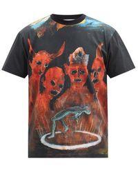 Walter Van Beirendonck X Pablo Iglesias Prada Cotton T-shirt - Black