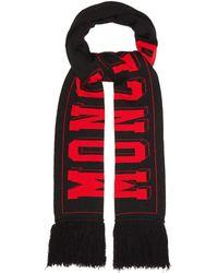 Moncler - Football Logo Wool Blend Scarf - Lyst