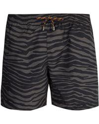 Stella McCartney - Zebra Print Swim Shorts - Lyst
