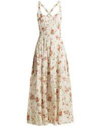 Brock Collection - Daphne Floral-print Silk-charmeuse Dress - Lyst