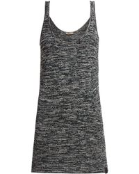 Bottega Veneta Extra Long Chenille Knitted Tank Top - Gray