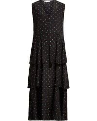 Stella McCartney - Dot Print Tiered Silk Dress - Lyst