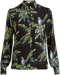 Stella McCartney - Parrot-print Silk Shirt - Lyst