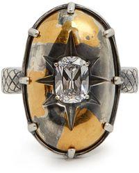 Bottega Veneta - Stellular Cubic-zirconia Ring - Lyst