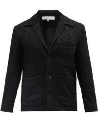 Sasquatchfabrix. Single-breasted Canvas Suit Jacket - Black