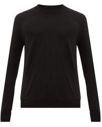 Bottega Veneta リブネック メリノウールセーター - ブラック