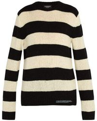CALVIN KLEIN 205W39NYC - Striped Wool Blend Knit - Lyst