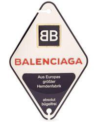 Balenciaga - Bronze Double-b Engraved Badge - Lyst