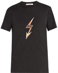 Givenchy - Lightning Bolt Arrow-print Cotton T-shirt - Lyst