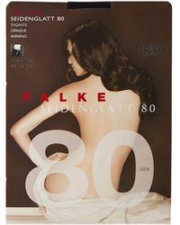 Falke Seidenglatt 80 Denier Tights - Black