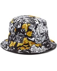 Versace Rose-print Twill Bucket Hat - Multicolour
