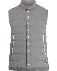 Moncler Gamme Bleu Quilted Down Cotton Gilet - Gray