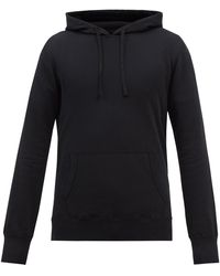 Reigning Champ Cotton-terry Hooded Sweatshirt - Black