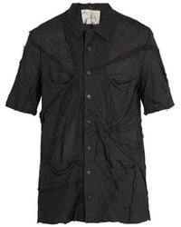By Walid - Patchwork Cotton-voile Shirt - Lyst