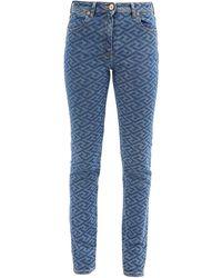 Versace ラ グレカ スリムジーンズ - ブルー