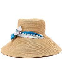 Filù Hats Vanuatu Wide Brim Straw Hat - Blue