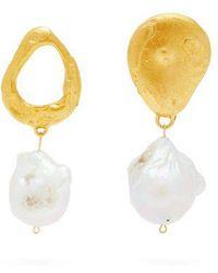 Alighieri - The Infernal Storm Gold-plated Pearl Drop Earrings - Lyst