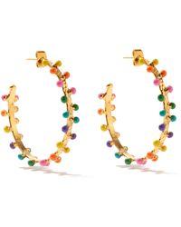 Sylvia Toledano Enamel Textured Hoop Earrings - Metallic